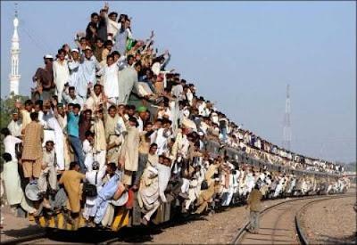 overload train passenger strange