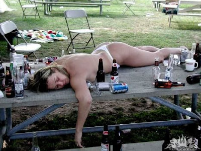 women passed out drunk