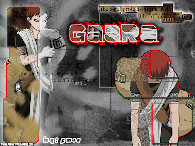 ninja from sand village - gaara with sand tecnic ninja