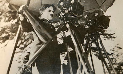 famous actor chaplin in camera