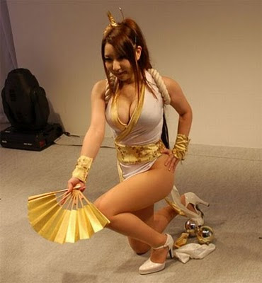 cosplay girls anime costum art in game