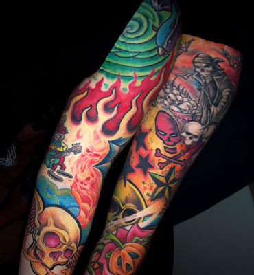Fine art online tattoos design arm colour