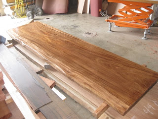 Tropical exotic hardwoods parota finished pieces for Finished wood slabs