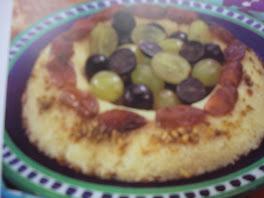 gâteau de semoule garni raisins