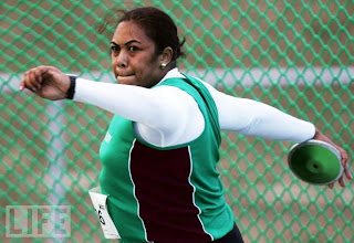Beatrice Faumuina, NZ at Delhi Commonwealth Games