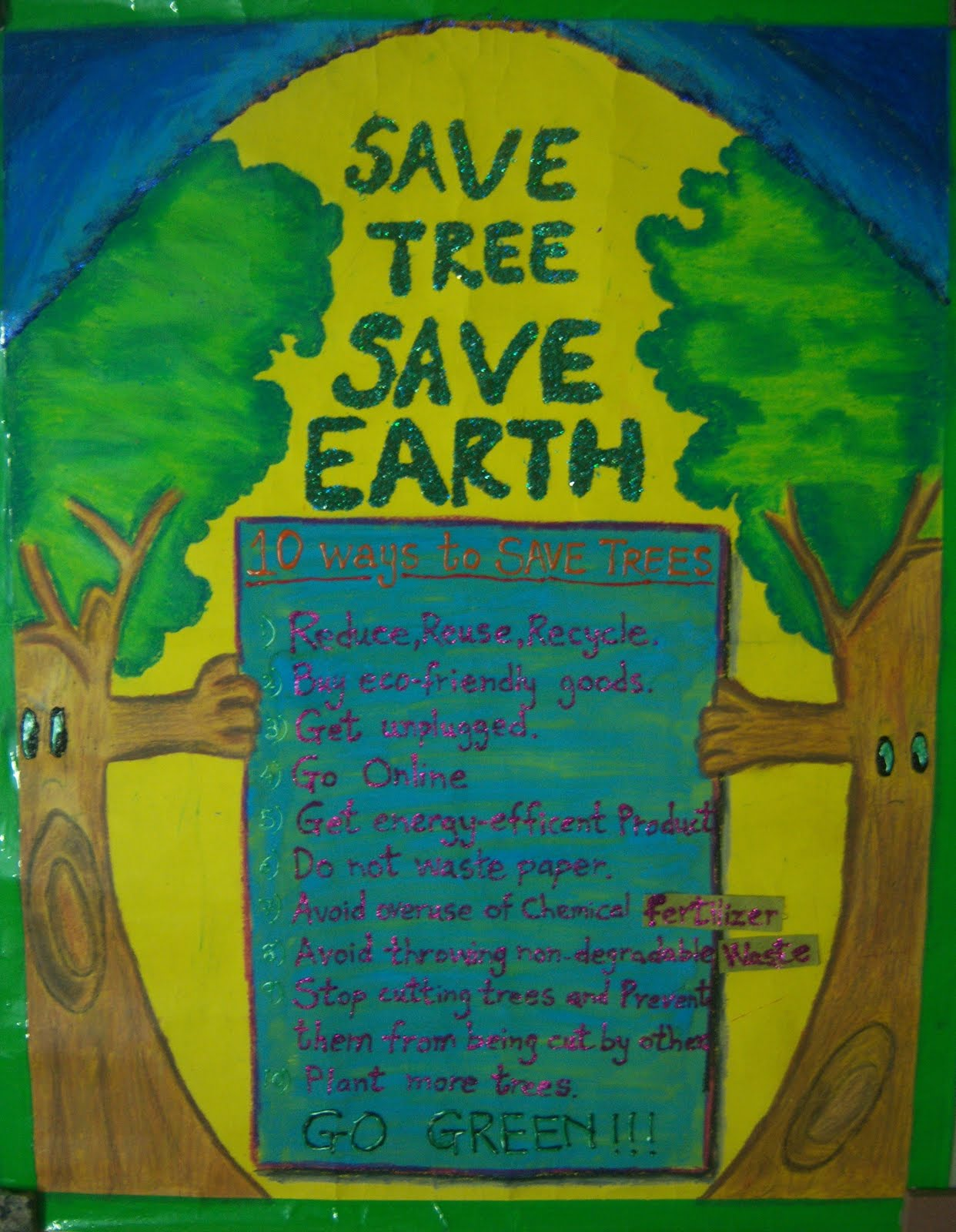 on my board right now...: Save Earth, Save Tree for Rangoli Designs With Theme Go Green  28cpg