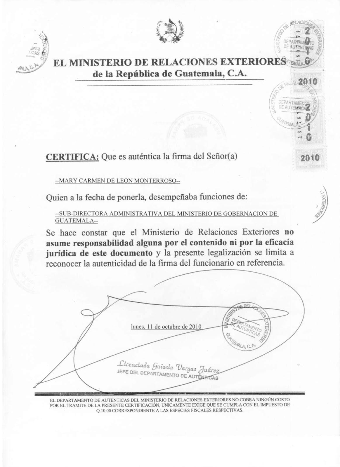 Ministerio de relaciones exteriores de guatemala share for La pagina del ministerio