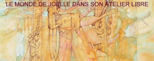 Le monde de Joëlle dans son atelier libre