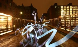 Light Tagging Graffiti Alphabet Style Design