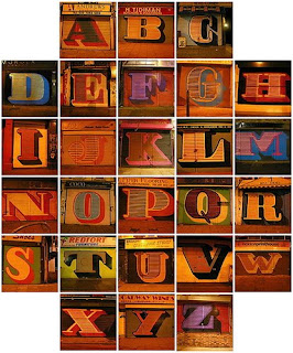 Graffiti alphabet letter fonts a z block style