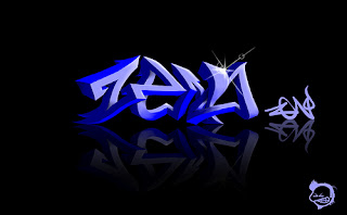 3D Lighting Graffiti Alphabet Blue