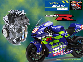 Beautiful Suzuki GSV R 2003 Movistar MotoGP Style Modified