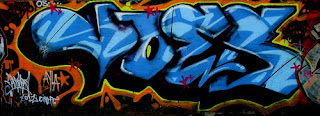 Blue Style Fonts Color Graffiti Tagging