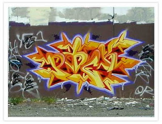 Cool Graffiti Alphabet Light Yellow Style Design