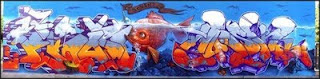 Graffiti Alphabet Murals Fish Picture Design