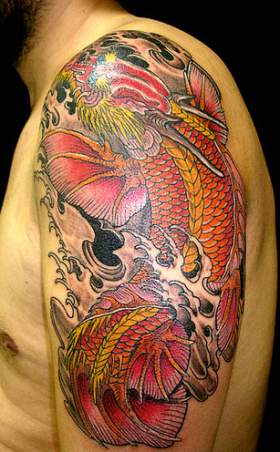 A Man with Left Arm Dragon Tattoo Design