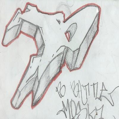 graffiti letter b