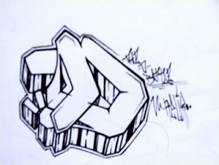 Graffiti Letter D Sketches