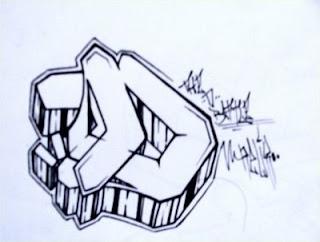 Graffiti Letter D Sketches