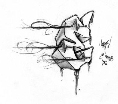 letter b graffiti. Graffiti Letter E Sketches