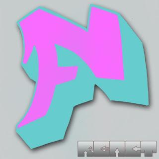 Graffiti Letter F 3D