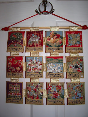 12 Days of Christmas wall hanging