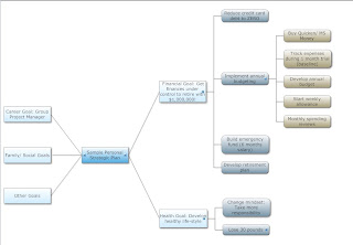 Mind Map Diagram of Sample Personal Strategic Plan