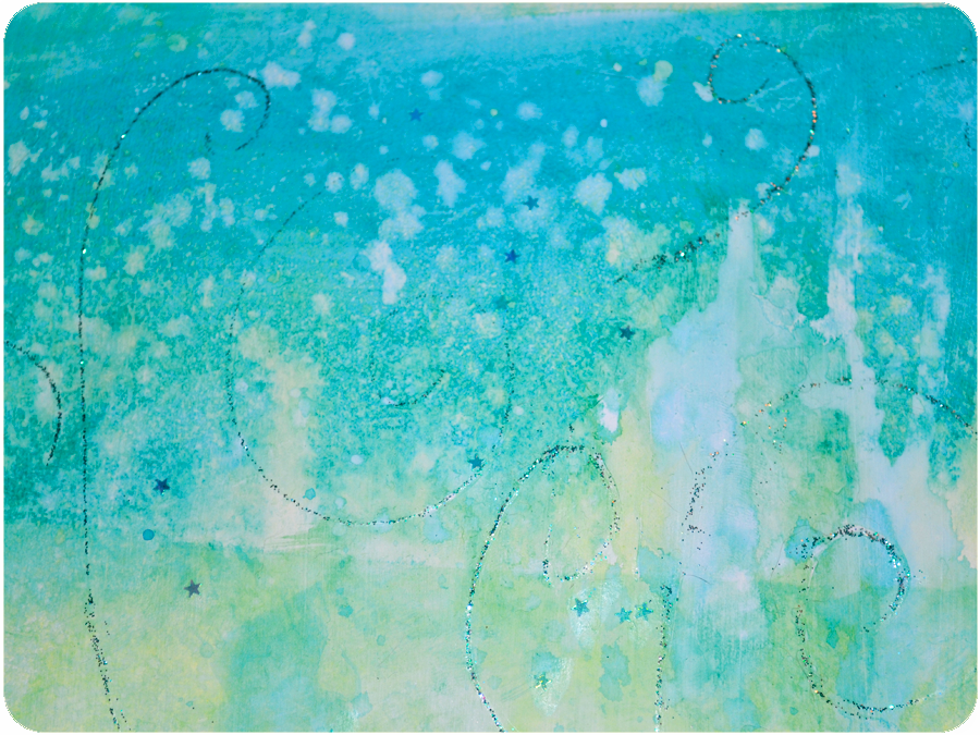 Kell belle studio painting acrylic ocean backgrounds for Acrylic background techniques