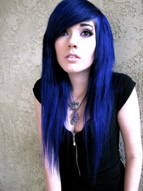 Black And Blue Scene Hair Leda The Madness Sce...