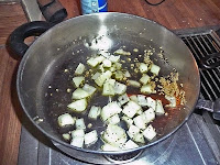 Saute onions and garlic