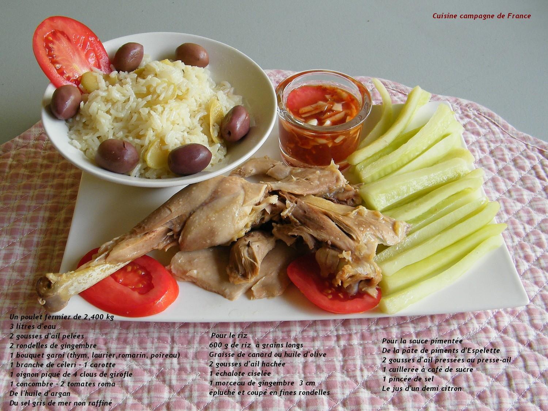 cuisine et cagne de poule au pot ou hainanese chicken rice c est comme vous voudrez