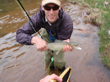 Matt and his nice Pine River rainbow