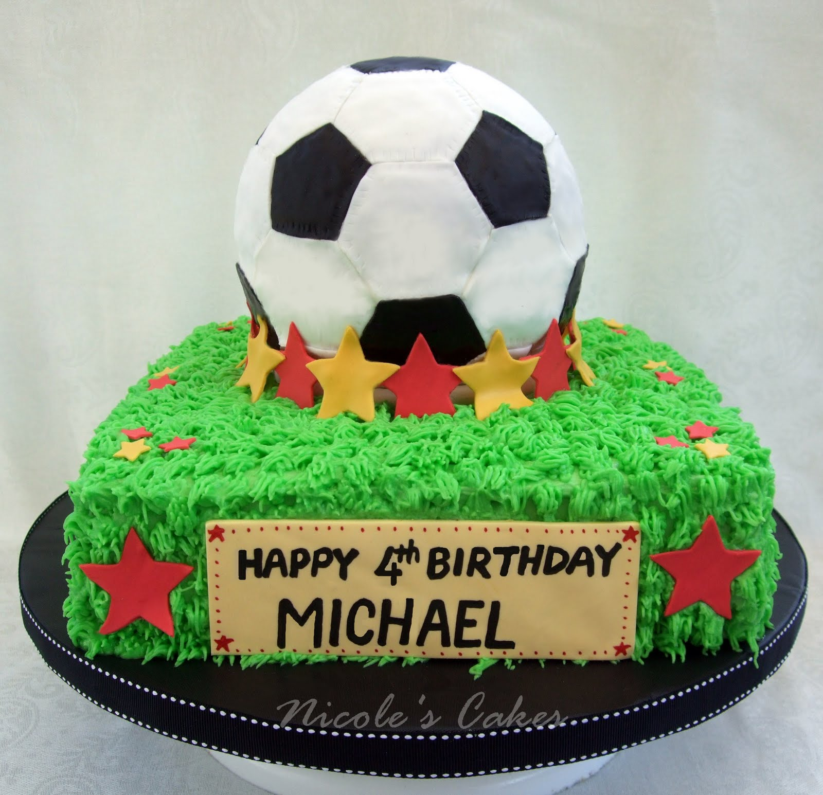 Cake With Ball Design : Confections, Cakes & Creations!: Soccer Ball Cake