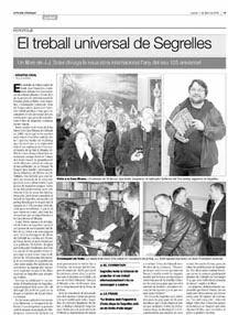 EL TREBALL UNIVERSAL DE SEGRELLES