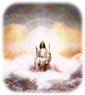 Jesus sentado en su trono