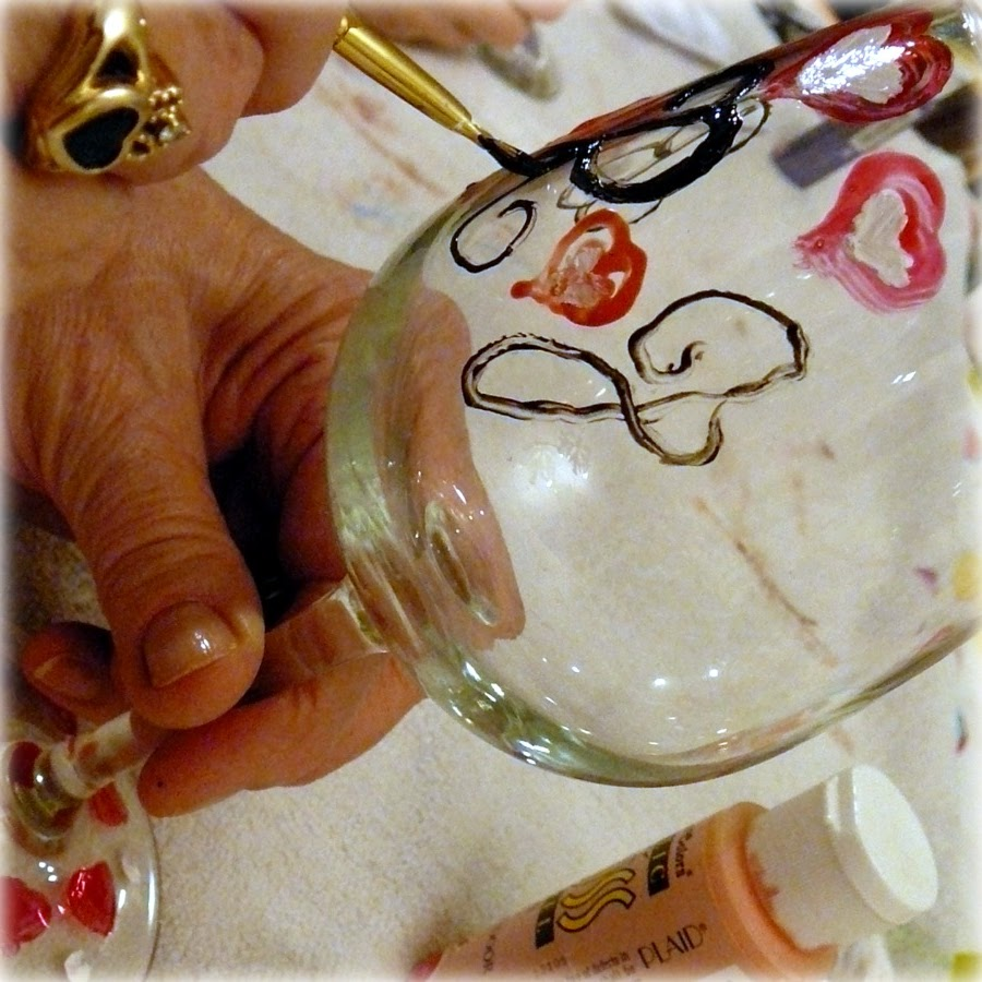 Magicmarkingsart an artful blog about color and whimsy for What paint do you use to paint wine glasses