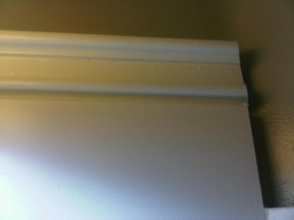 By the way jenn gray board batten bathroom - Decorative trim for bathroom mirrors ...