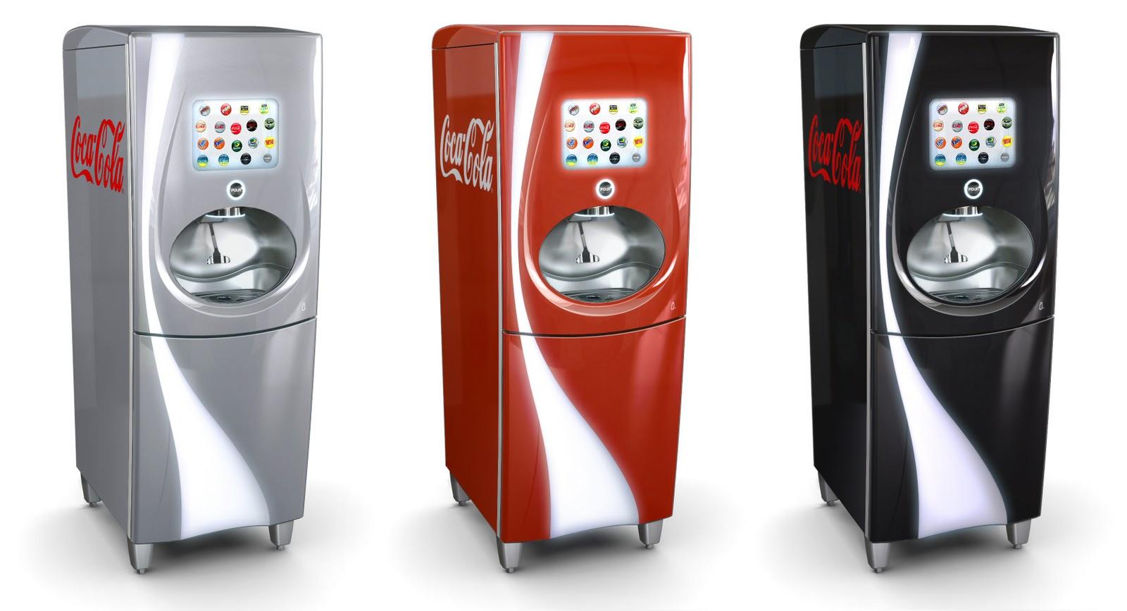 soda machine touch screen