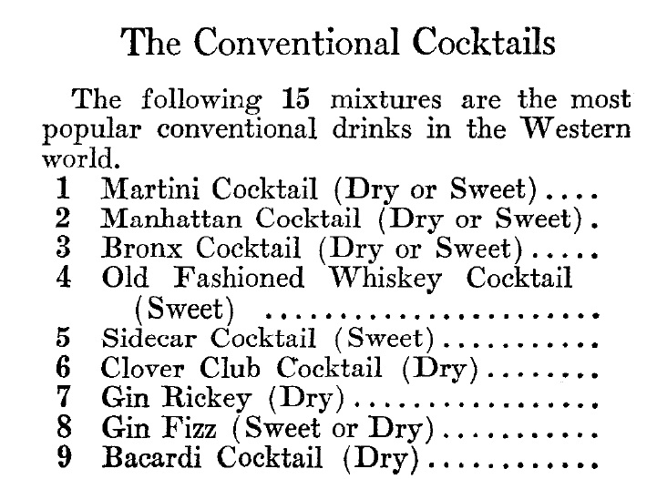 the world s 15 most famous cocktails in 1934