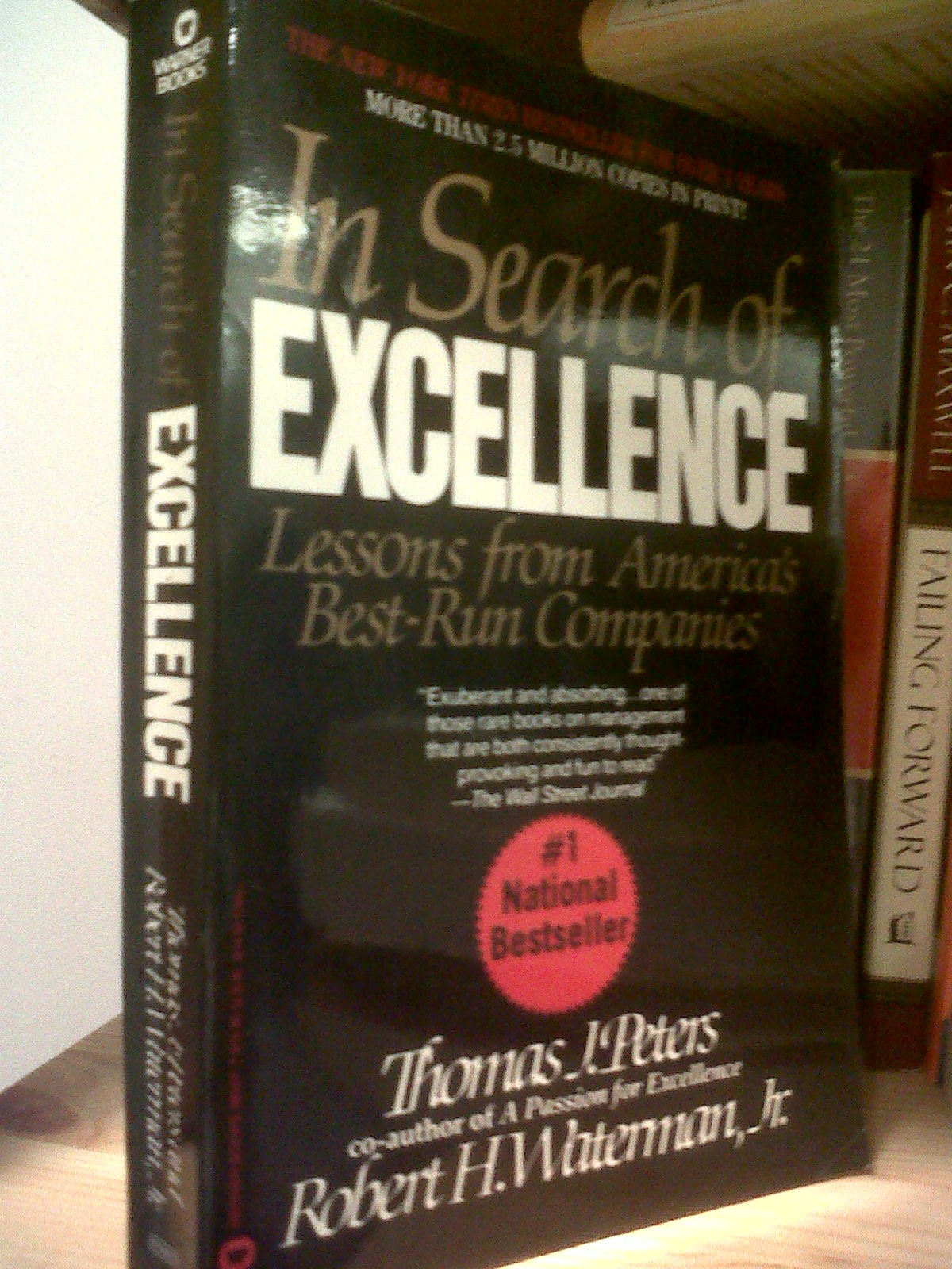 Books read in search of excellence lessons from americas best run in search of excellence lessons from americas best run companies by thomas j peters robert h waterman jr publicscrutiny Gallery