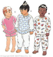 Kwik Sew 2315 Toddlers Pajamas  pattern