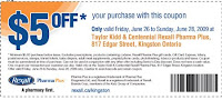 $5 off Rexall Pharma Plus Purchase