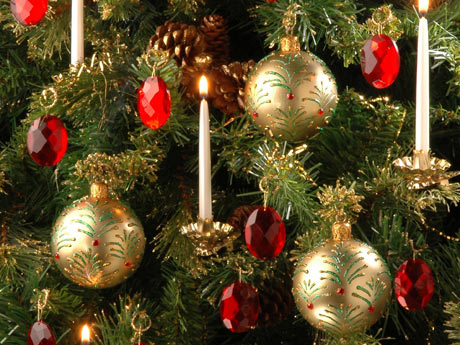 Entre mim e voc n s passo a passo bolas de natal - Como decorar un arbol de navidad ...