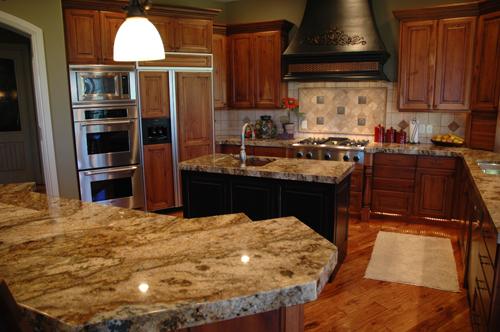 Kitchen With Lapidus Granite Countertops
