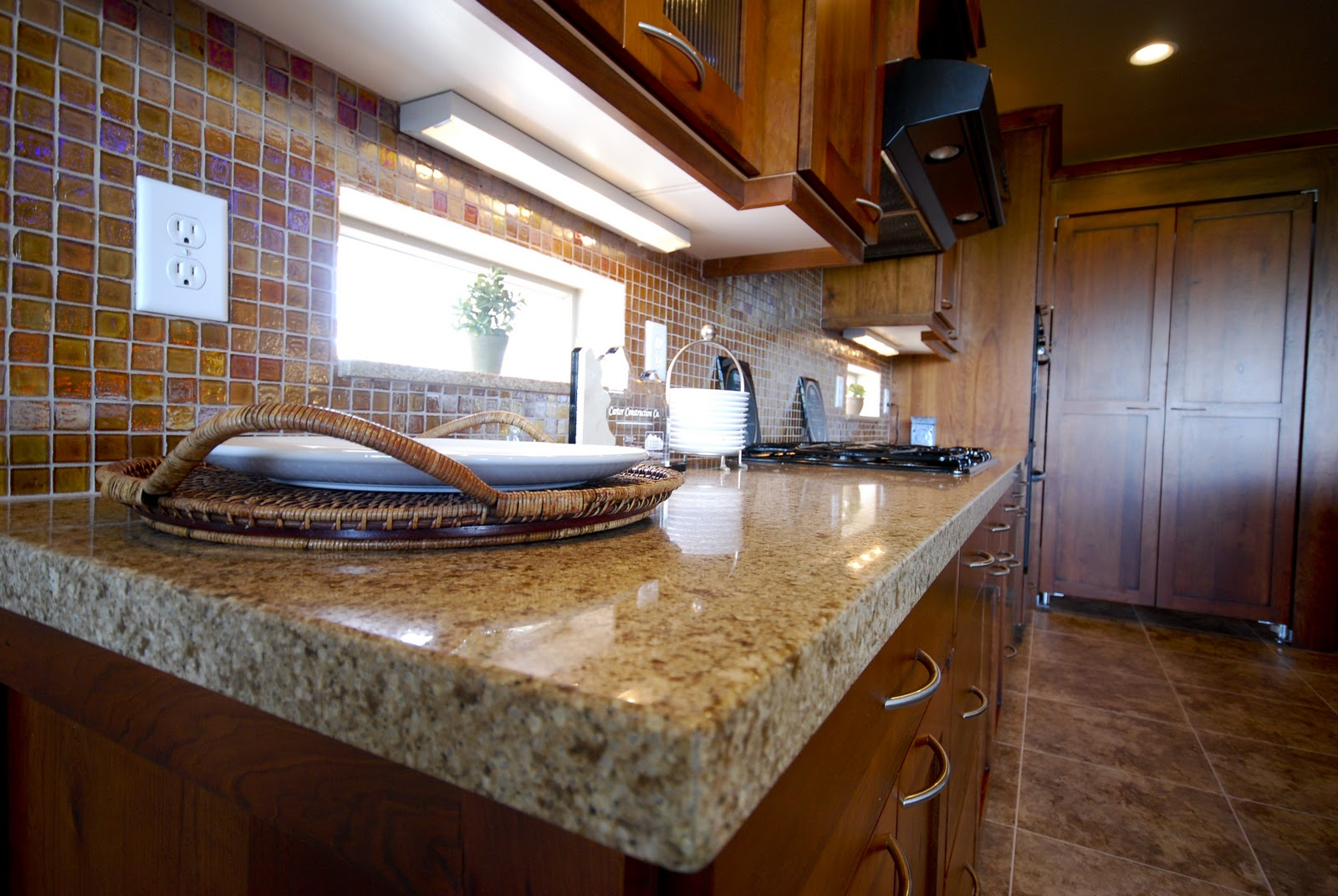 another option is a 4 granite slab backsplash we will install it at