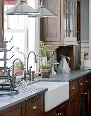The Granite Gurus: Farmhouse Kitchen with Pietra Cardosa countertops