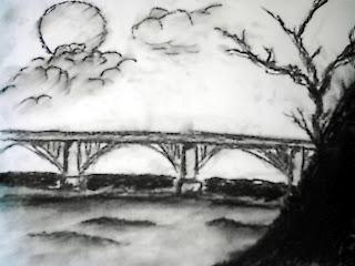 dibujos hechos con carboncillo