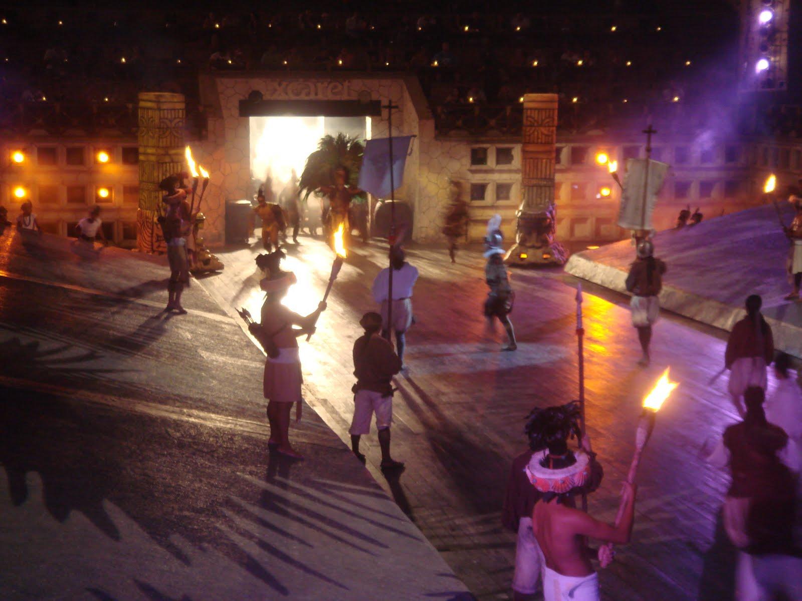 Viagens xcaret 3 parte espect culo nocturno for Espectaculo nocturno de xcaret