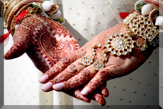These pictures only show a few and are pretty typical for an Indian bride