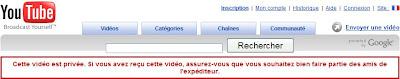 youtube video privee